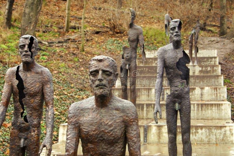 Víctimas del monumento del comunismo en Praga imagen de archivo libre de regalías