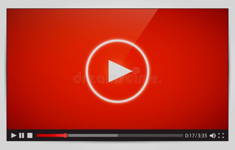 Vídeo moderno para el web stock de ilustración