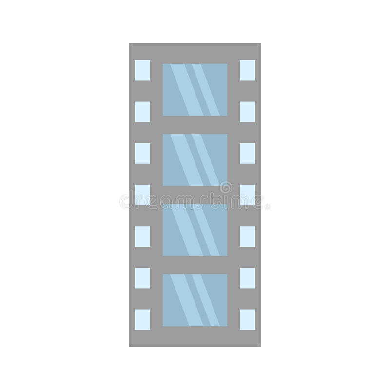 Vídeo negativo del equipo de la tira de la película ilustración del vector