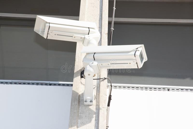 Vídeo urbano de la cámara de seguridad del CCTV imagen de archivo