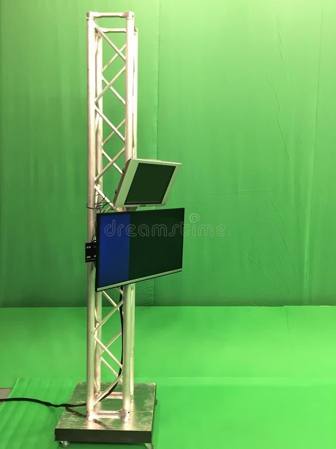 Vídeo verde vacío moderno fotos de archivo