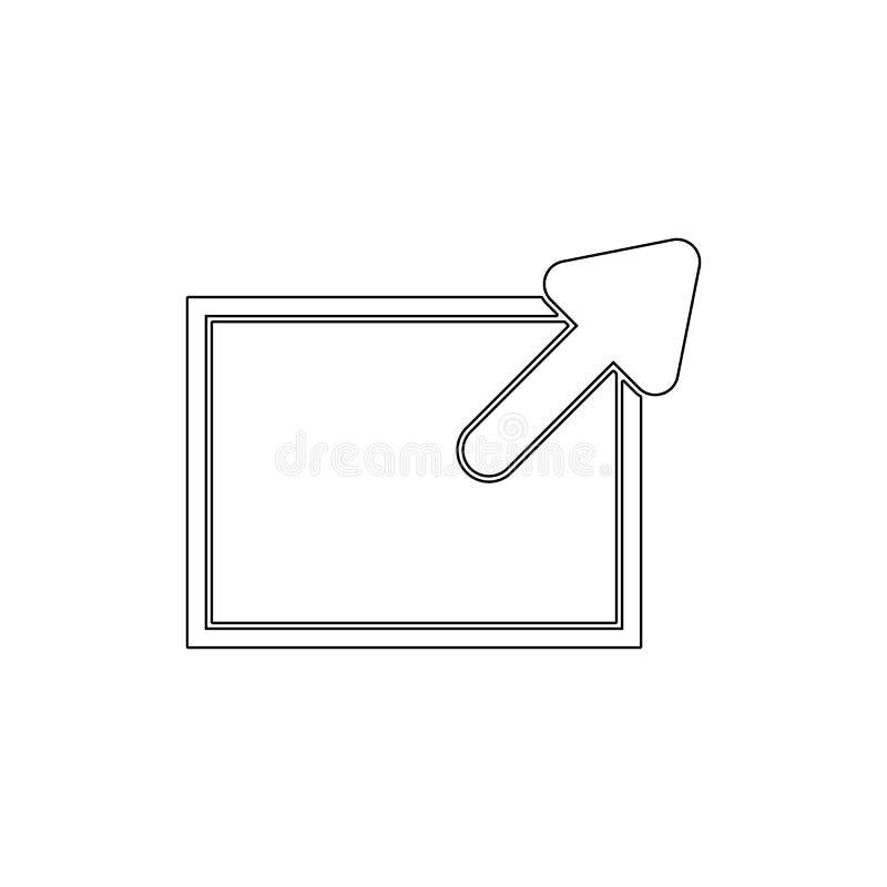 Vínculo externo cercano maximizar el icono del esquema de la nueva ventana Las muestras y los s?mbolos se pueden utilizar para la ilustración del vector