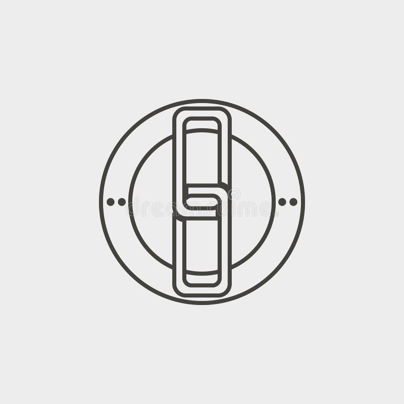 Vínculo, web, icono, esquema, icono Icono del vector del desarrollo web Elemento del símbolo simple para las páginas web, diseño  ilustración del vector