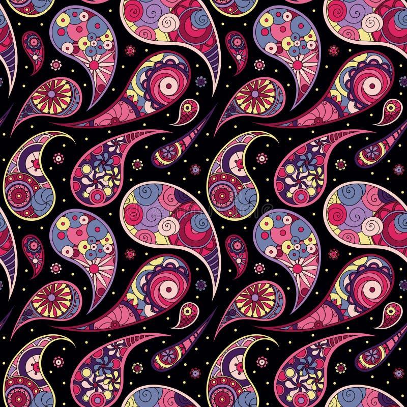 Vírgulas cor-de-rosa no fundo preto ilustração royalty free