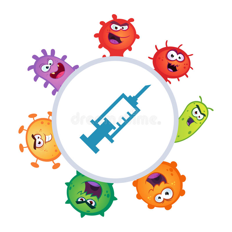 vírus ilustração stock