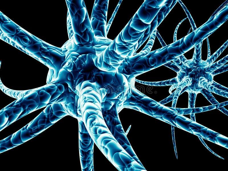Vírus azuis ilustração do vetor