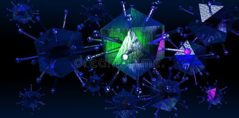 Vírus da gripe dos suínos ilustração do vetor