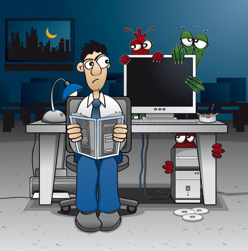 Vírus de computador ilustração stock