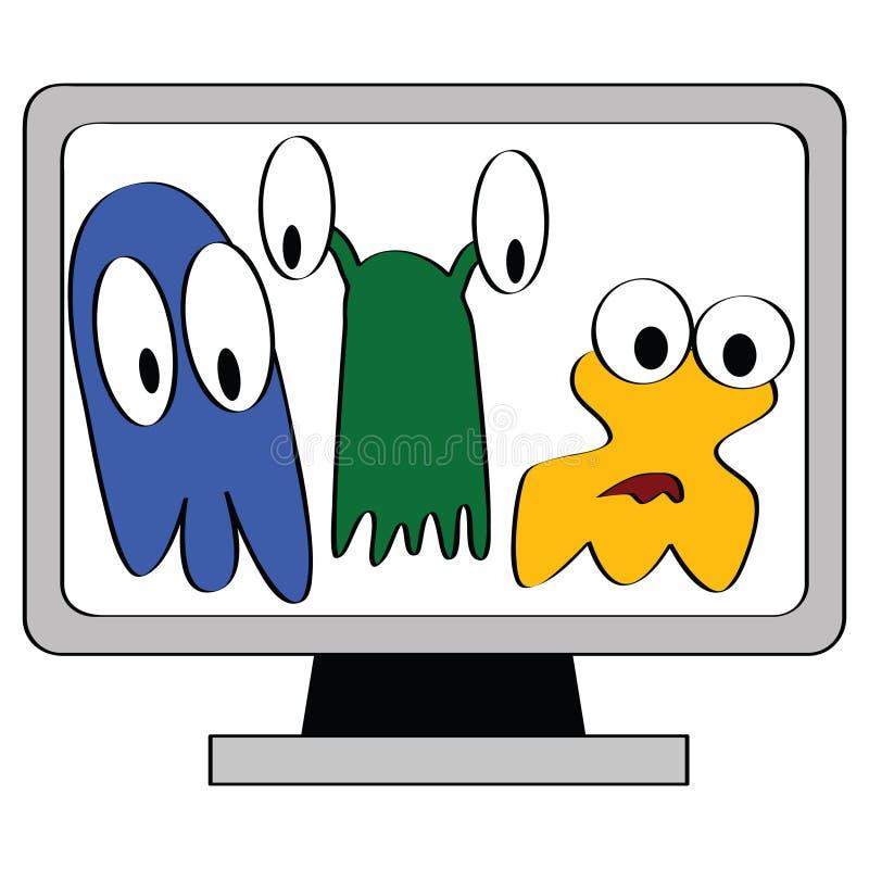 Vírus de computador ilustração do vetor