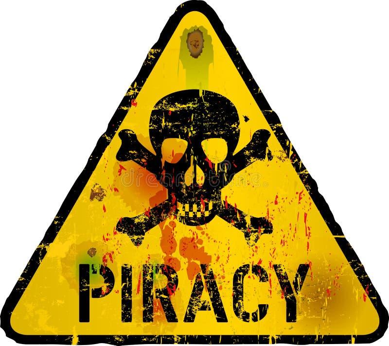 Vírus de computador, pirataria ilustração stock