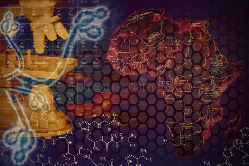 Vírus de Ebola ilustração do vetor