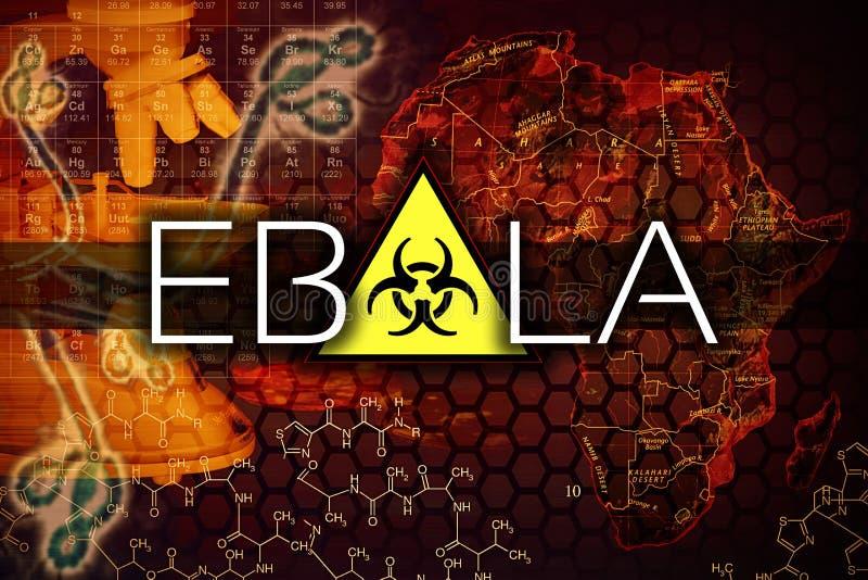 Vírus de Ebola ilustração royalty free