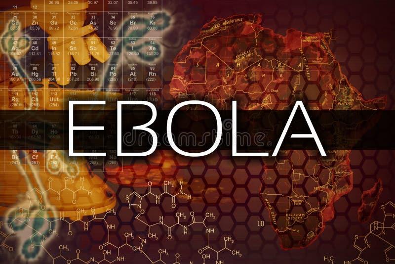 Vírus de Ebola ilustração stock