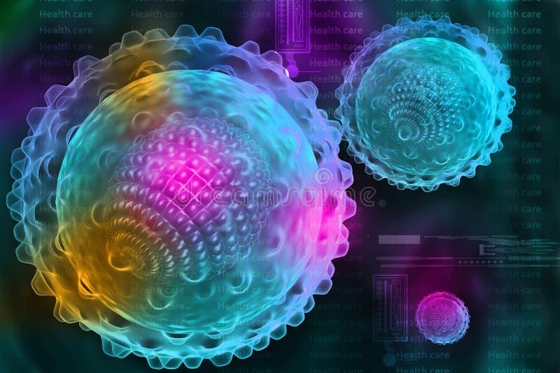 Vírus de hepatite ilustração royalty free