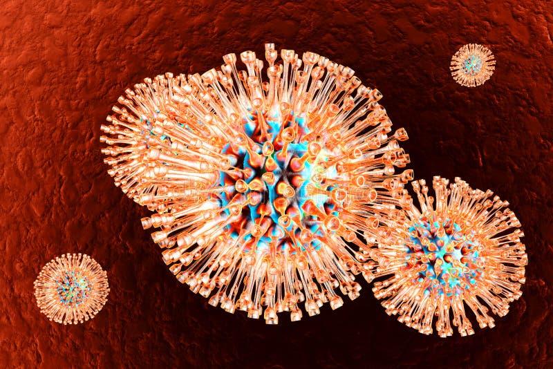 Vírus de herpes ilustração stock