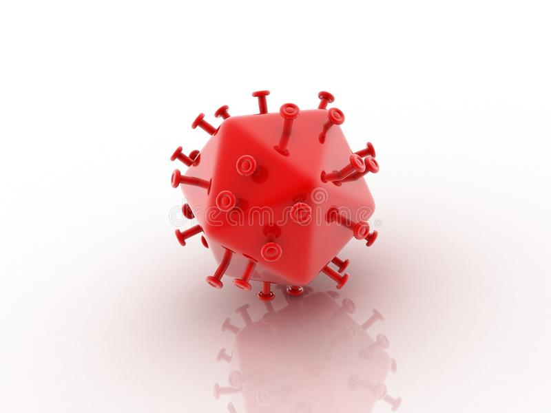Vírus do Hiv ilustração stock