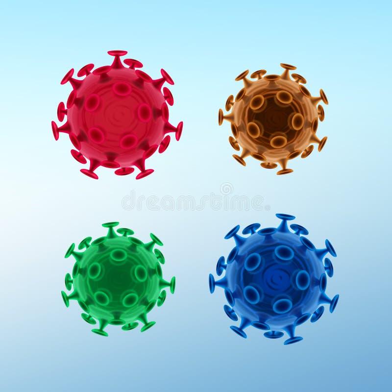 Vírus ou bactérias comuns ilustração royalty free