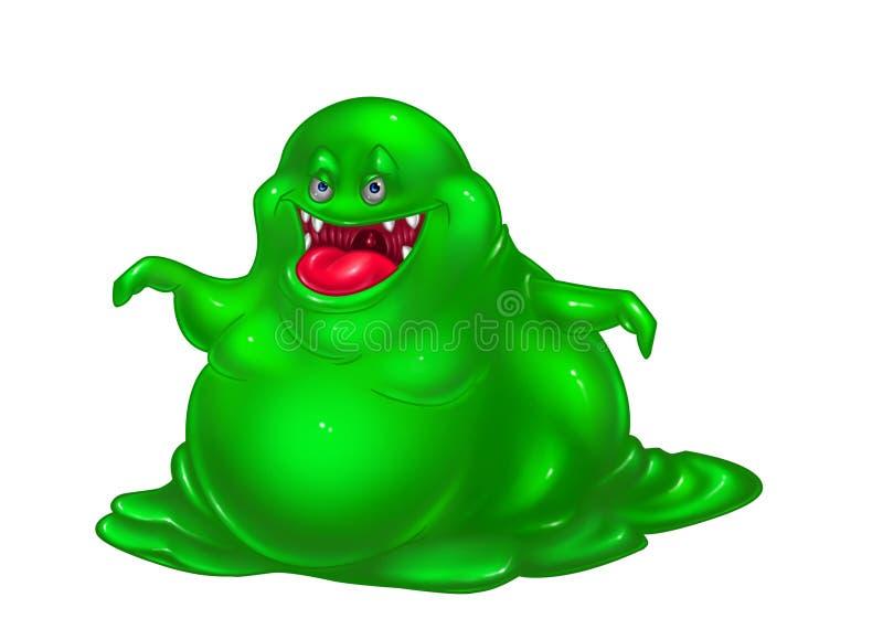 Vírus verde do monstro ilustração stock