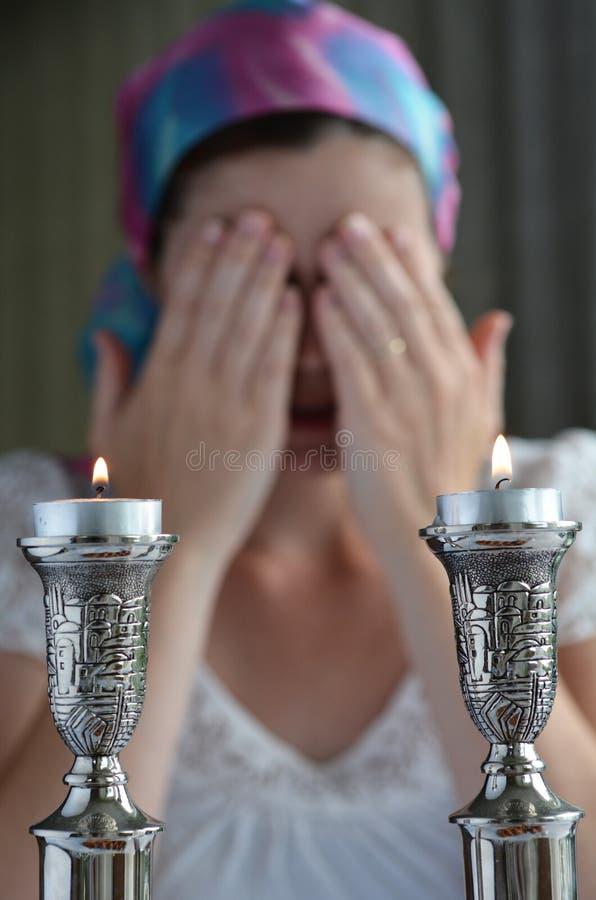 Víspera de Shabbat fotos de archivo libres de regalías