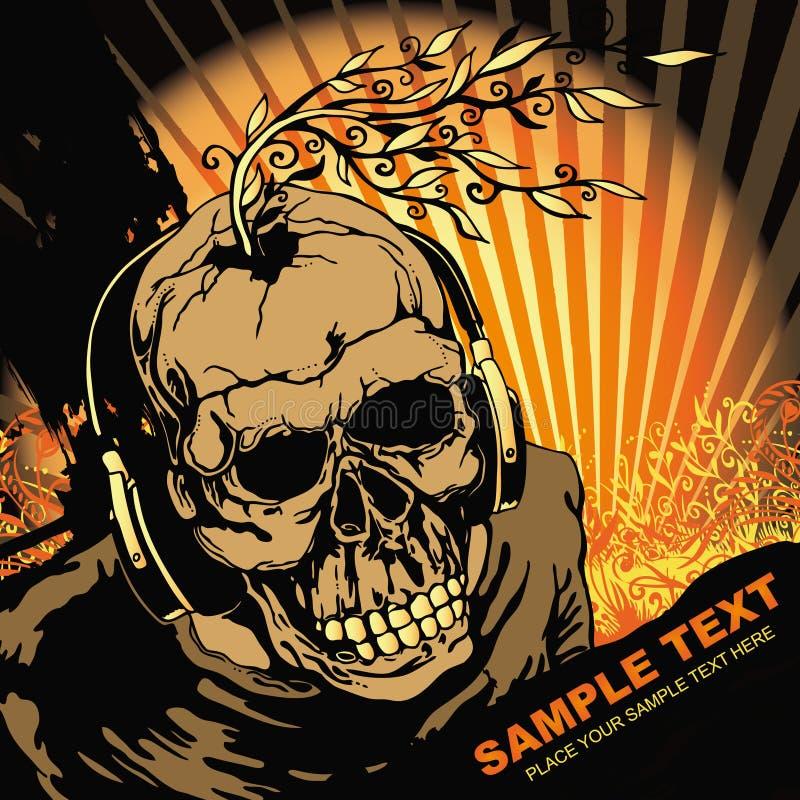 Víspera de Todos los Santos DJ ilustración del vector