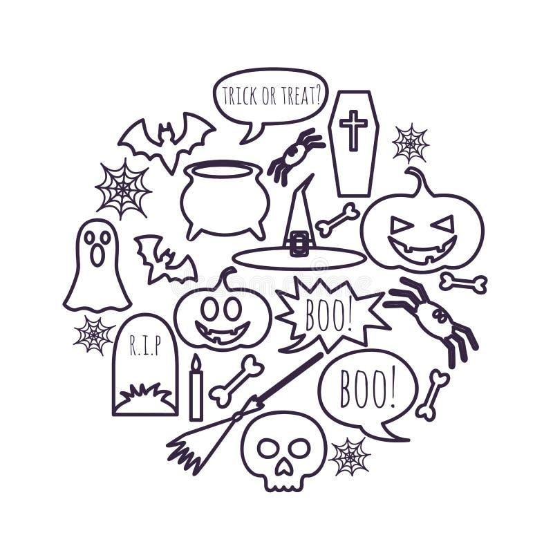 Víspera de Todos los Santos feliz stock de ilustración