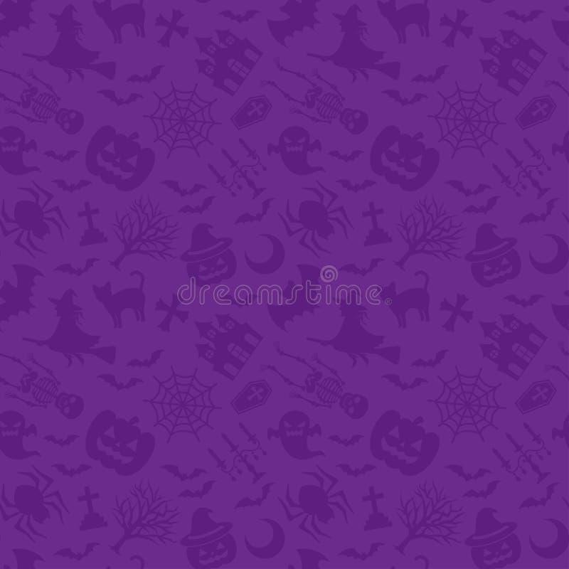 Víspera de Todos los Santos feliz Fondo púrpura stock de ilustración