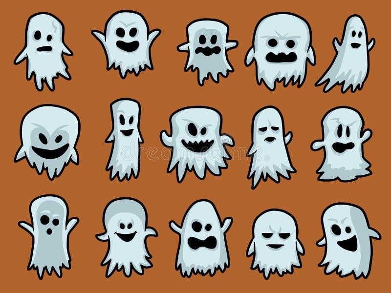 Víspera de Todos los Santos ghosts ilustración del vector