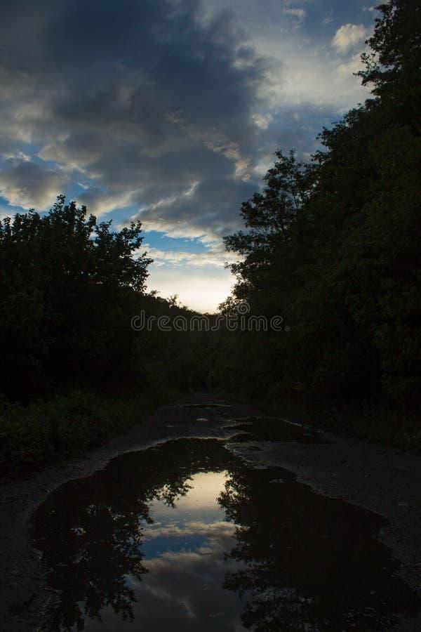 Víspera nublada imagen de archivo libre de regalías