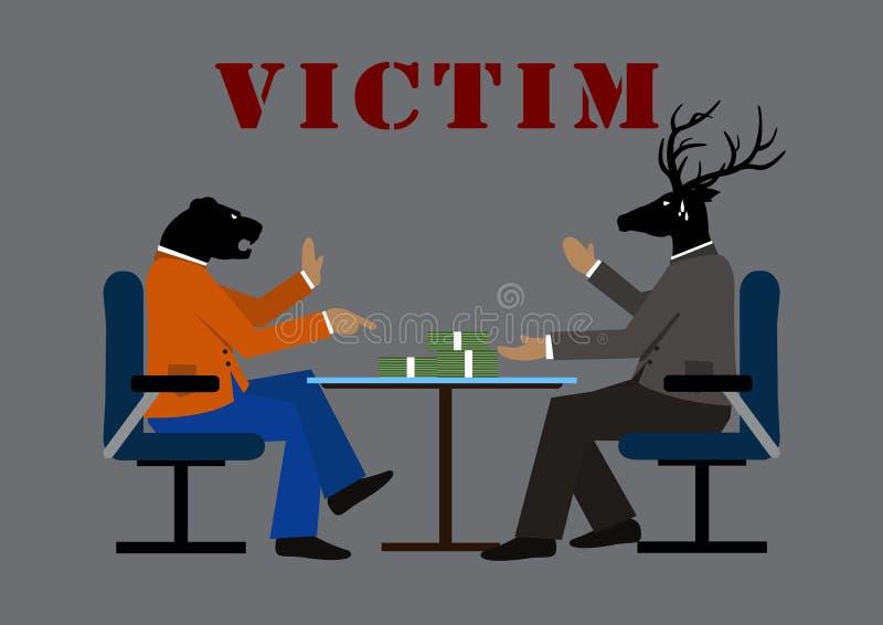 Vítima e negócio ilustração do vetor