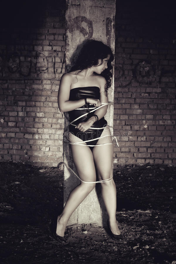Vítima 'sexy' fotografia de stock royalty free