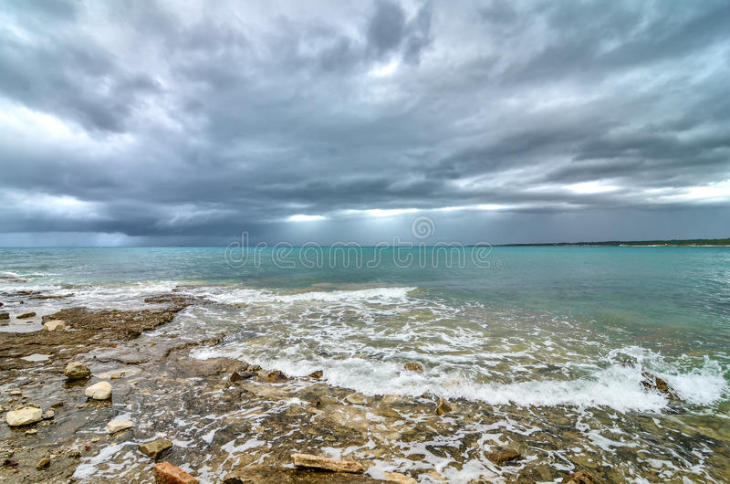 Vóór het onweer stock foto