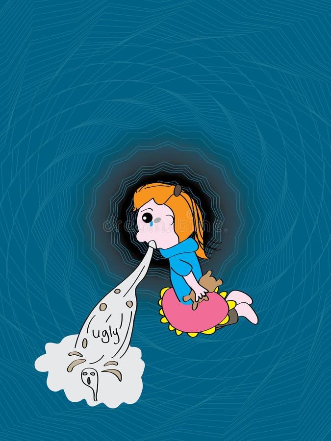 Vómito de la muchacha feo libre illustration