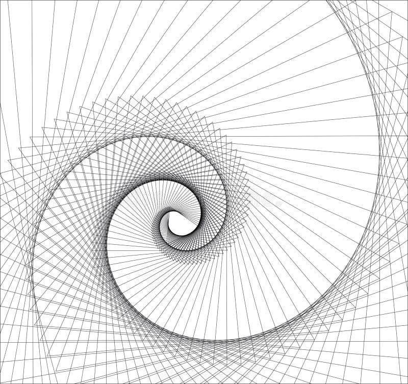Vórtice abstracto stock de ilustración
