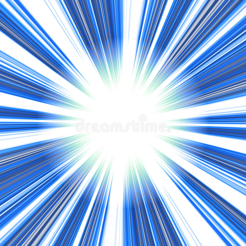 Vórtice abstracto azul stock de ilustración