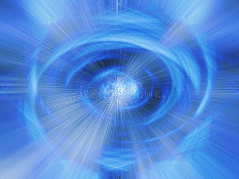 Vórtice azul stock de ilustración