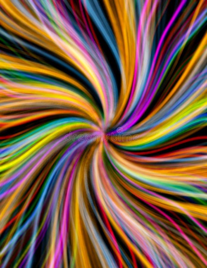 Vórtice colorido stock de ilustración