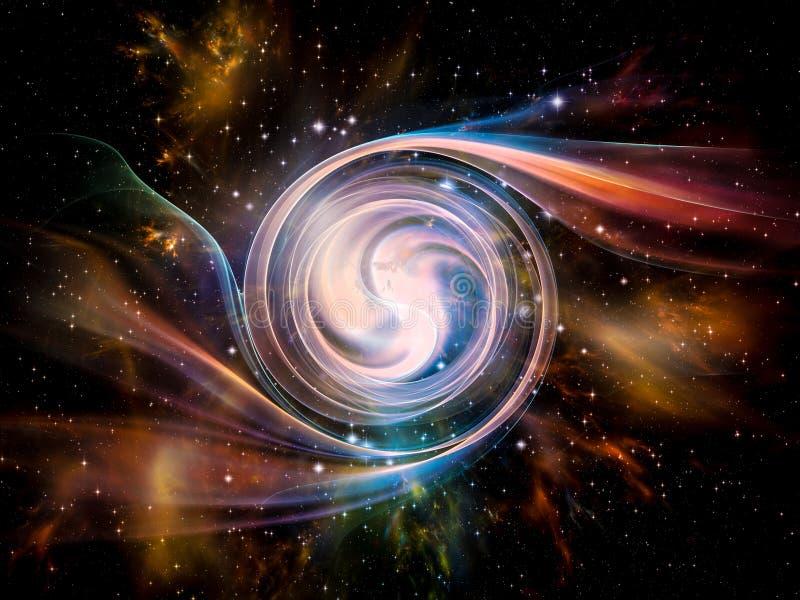 Vórtice en espacio ilustración del vector