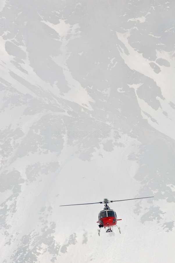 Vôo alpino foto de stock