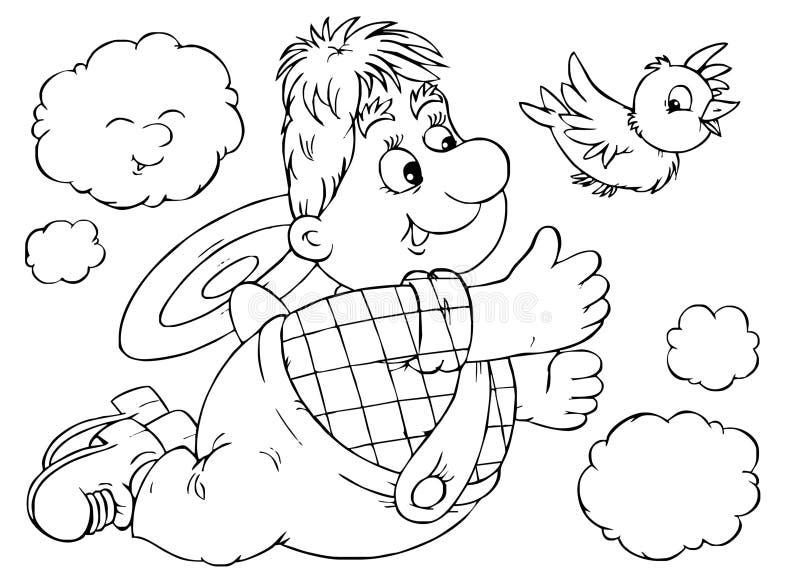Vôo Carlson ilustração stock