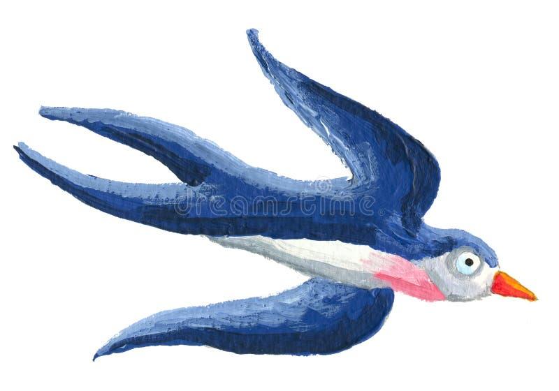 Vôo da andorinha para baixo ilustração do vetor