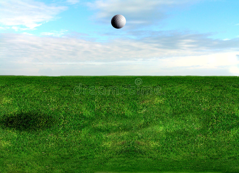 Vôo Da Esfera De Golfe Foto de Stock Royalty Free