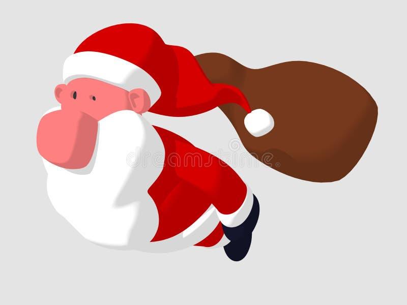 Vôo de Papai Noel ilustração stock
