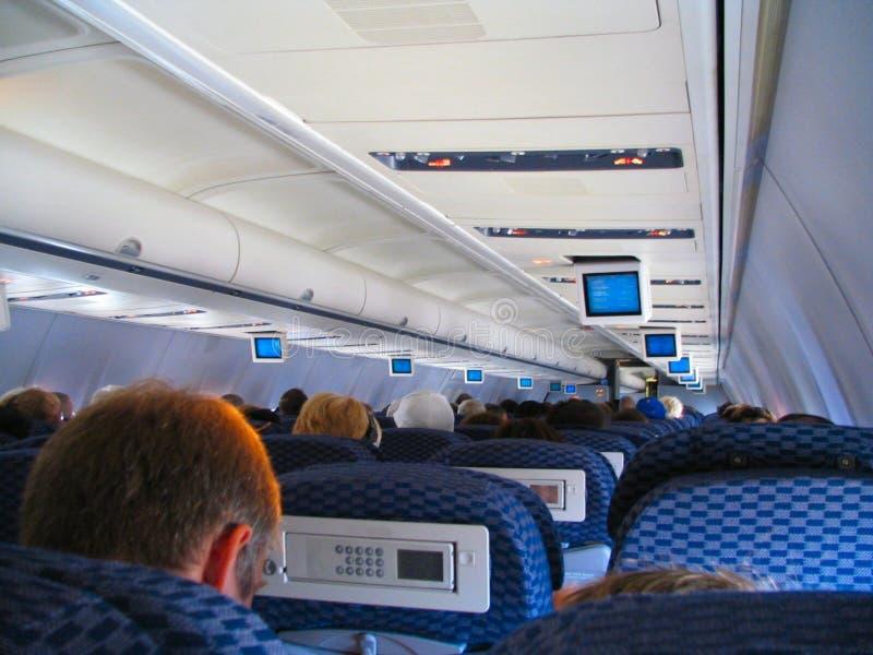Vôo do avião foto de stock royalty free