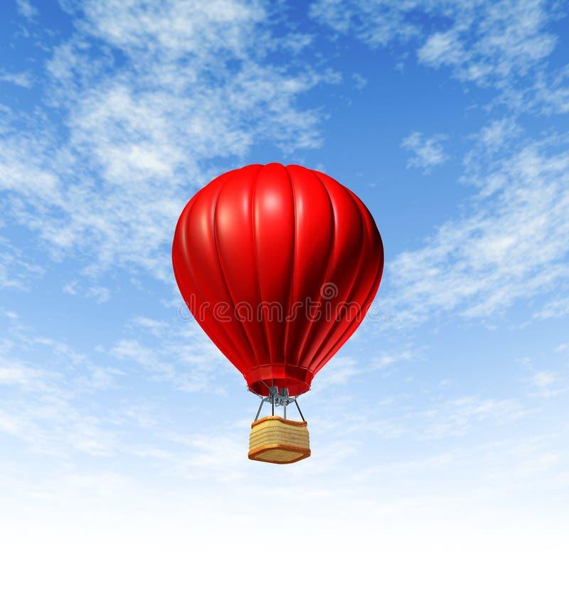 Vôo do balão de ar quente ilustração do vetor