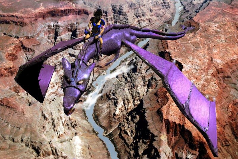 Vôo do dragão ilustração royalty free