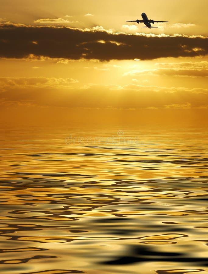 Vôo dourado foto de stock royalty free