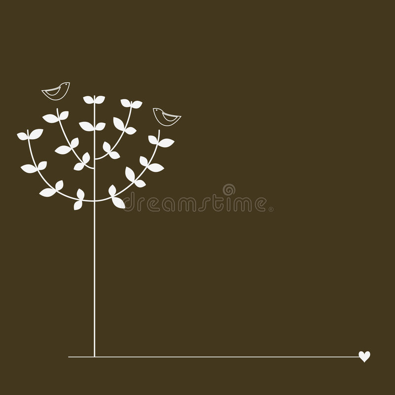 Vögel auf dem Baum vektor abbildung