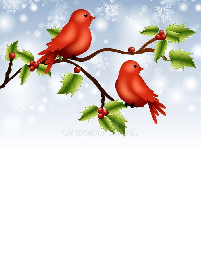 Vögel auf Zweig-Rand vektor abbildung