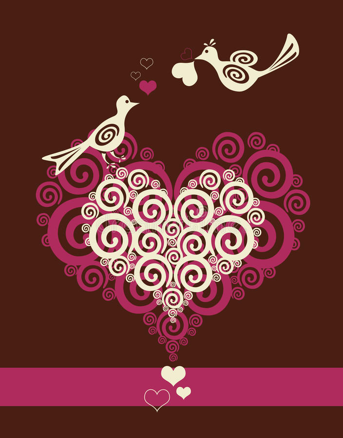 Vögel in der Liebe stock abbildung