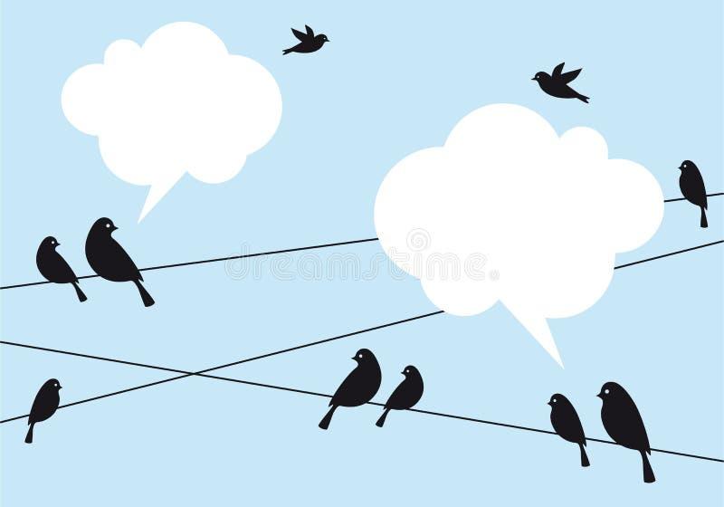 Vögel im Himmel, Vektorhintergrund vektor abbildung